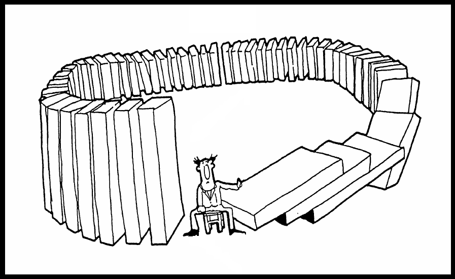 Image result for DOMINO EFFECT CARTOONS
