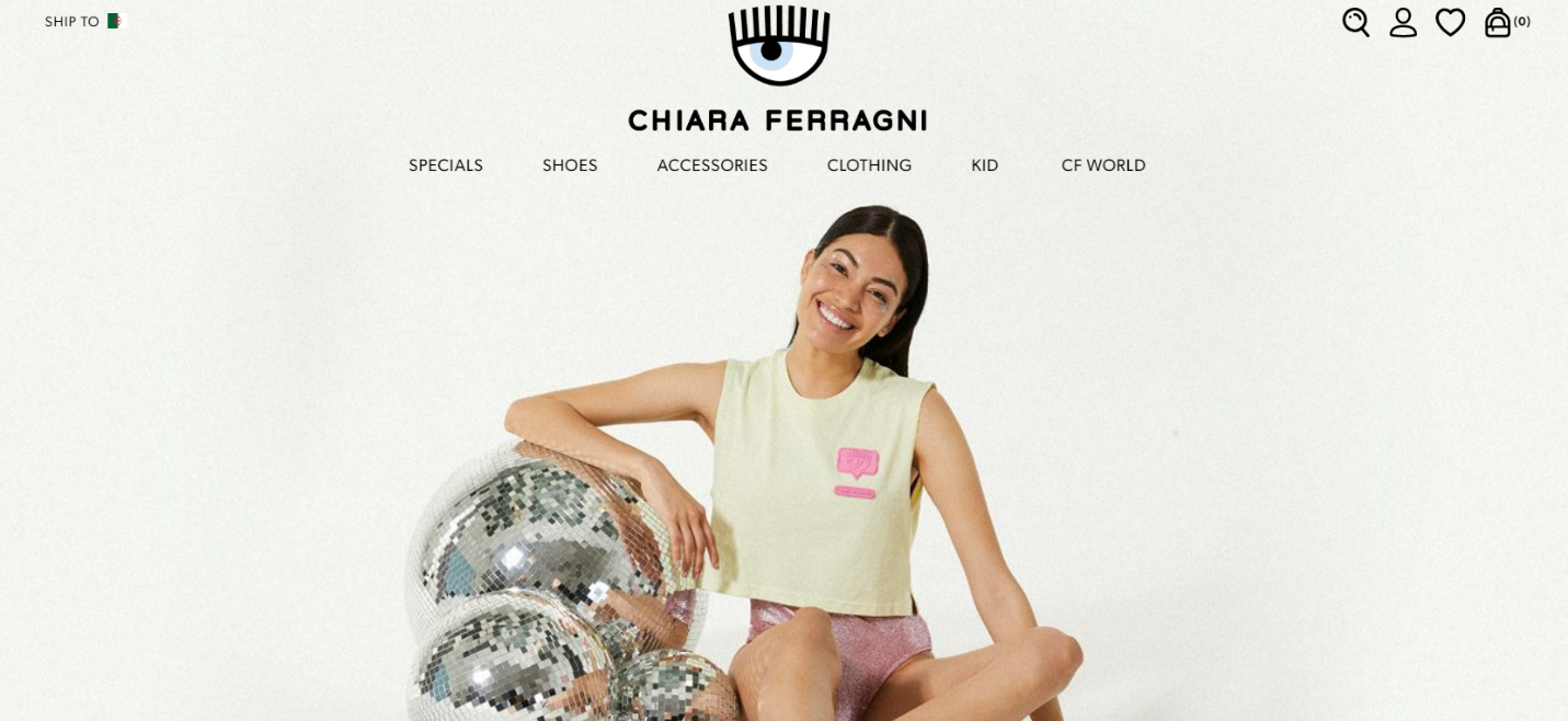 Chiara Ferragni Collection Homepage