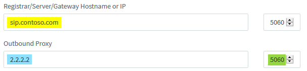 FQDN Registrar with IP Outbound Proxy.