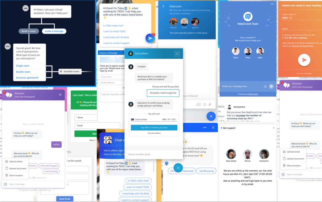 Best Chatbot Examples on Websites in 2019 | Serviceform com