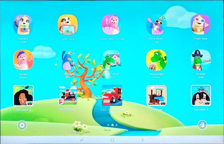 Tablet ini kaya akan aplikasi pendidikan dan bermain yang memungkinkan interaksi antara anak dan orang tua saat menggunakan gawai. Foto: Dicky
