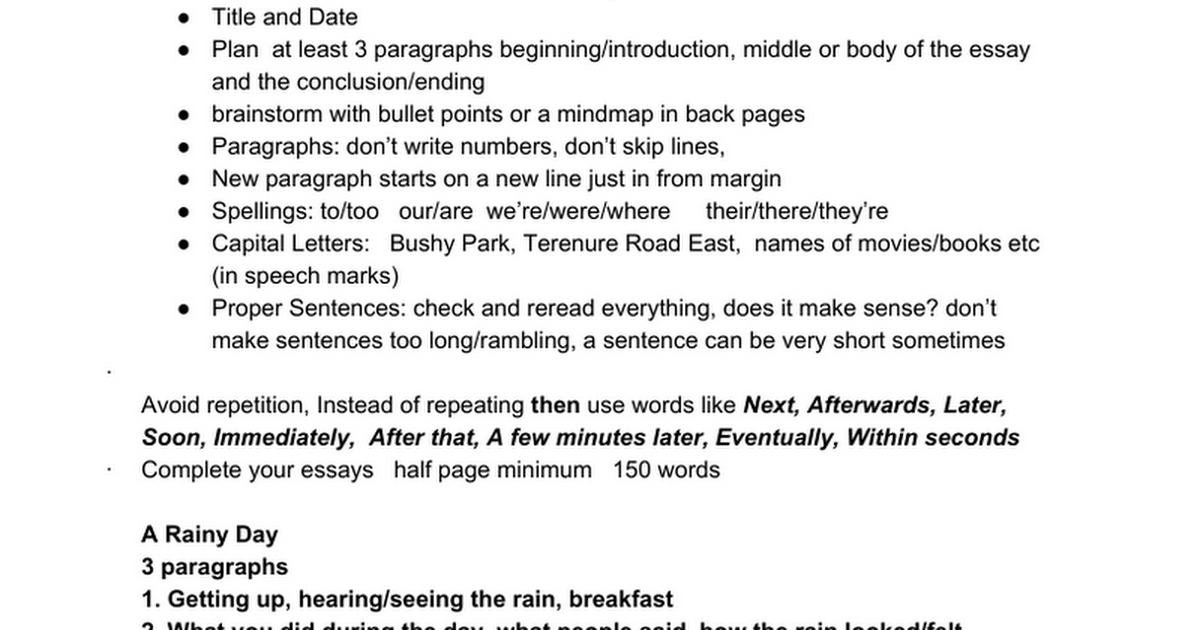 creative writing paragraph essay titles google docs