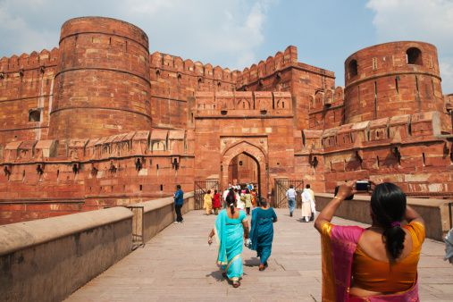 Tourists at Agra Fort