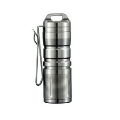 JETbeam Mini-1 TI Titanium XP-G2 130LM USB Rechargeable Mini LED Flashlight