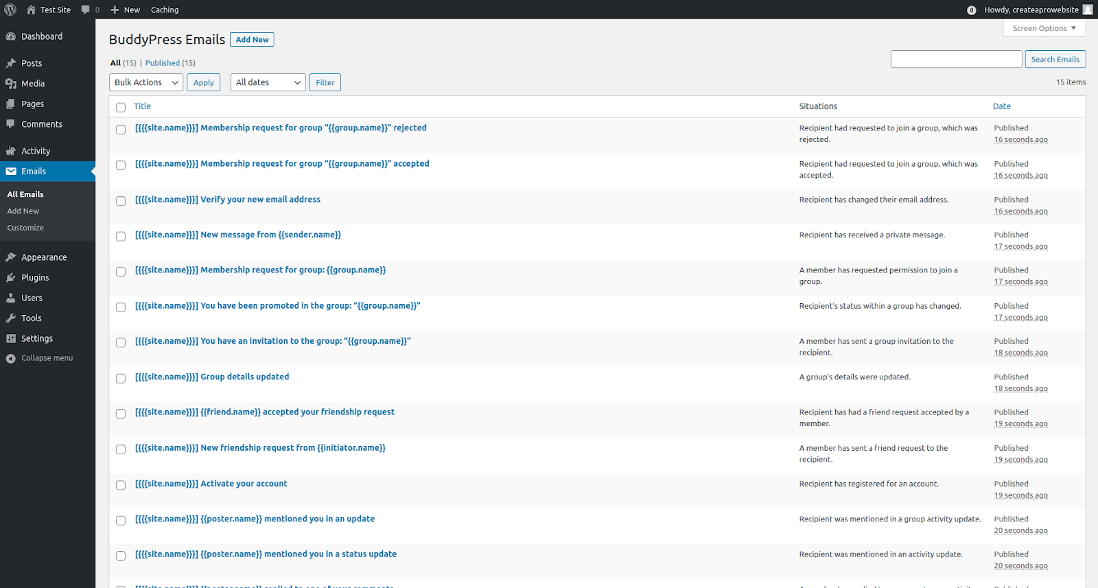 buddypress wordpress membership plugin features