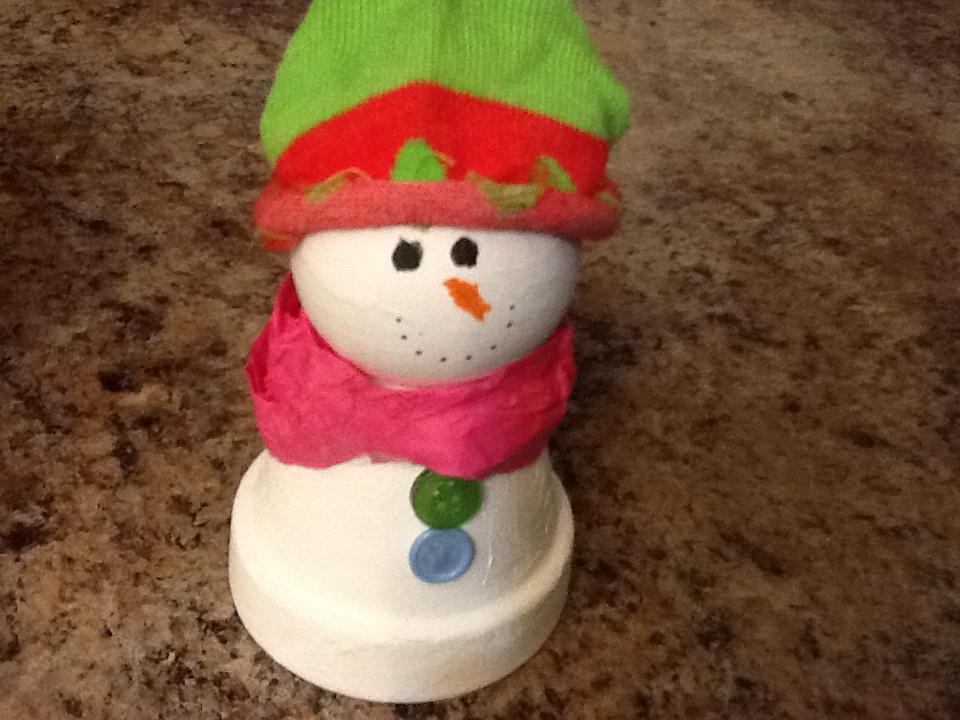 DIY Clay Pot Snowmen Decorations – The Horizon Sun