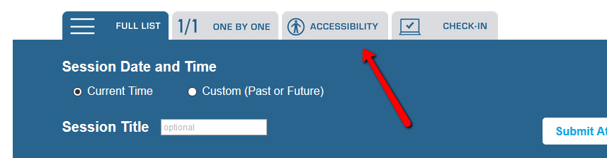 Manual Attendance Accessibility