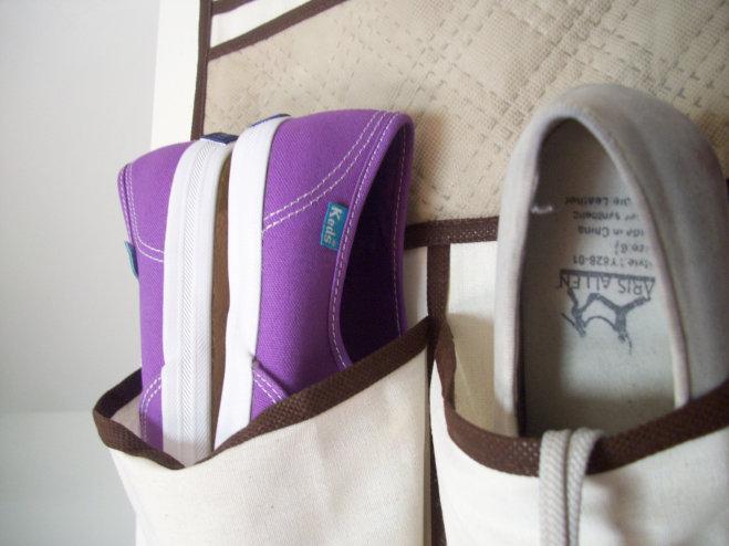 Purple Keds dance shoes