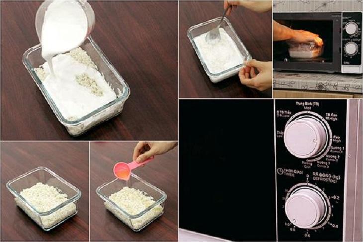 Kết quả hình ảnh cho Cách nấu xôi vò bằng lò vi sóng
