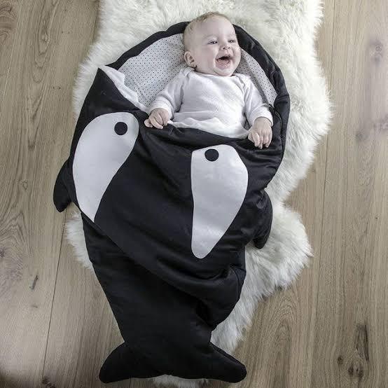 5. BABYBITES | Kids' Sleeping Bag Slate Blue Print