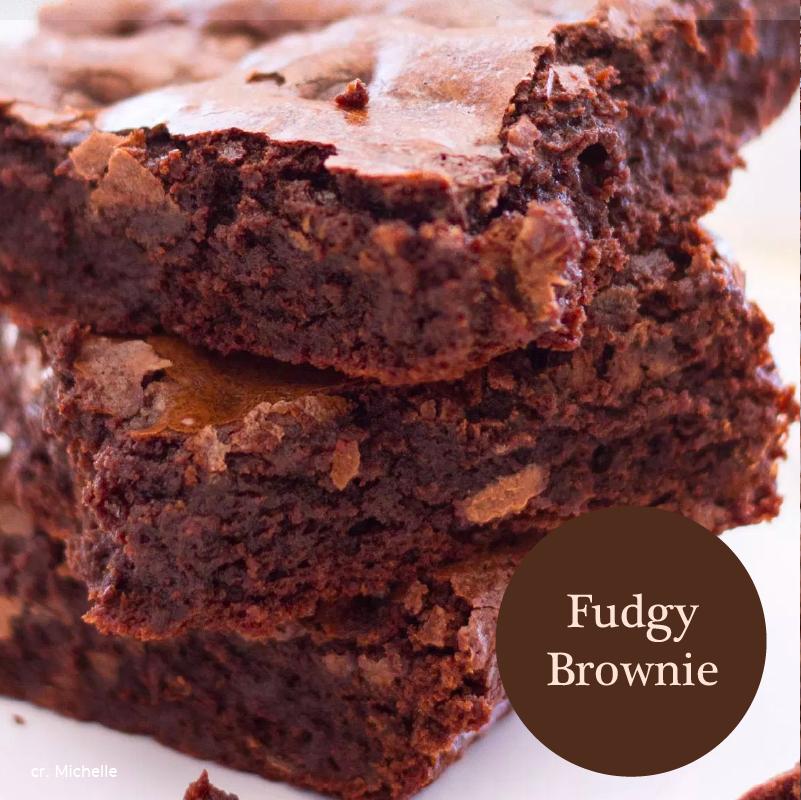 แบบที่ 1 Fudgy Brownies