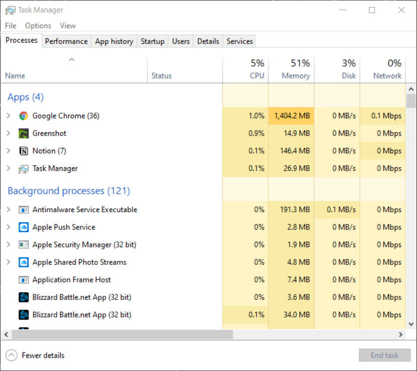 using task manager on your frozen computer