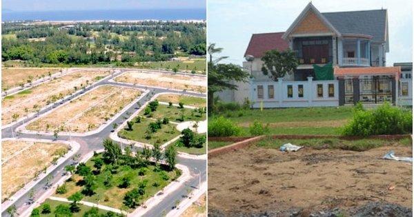 Đất nền dự án chiếm ưu thế hơn hẳn so với đất thổ cư
