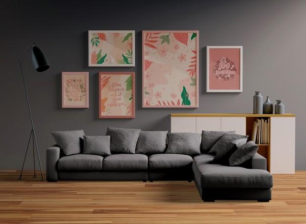 arrange a gallery for large wall in the living room