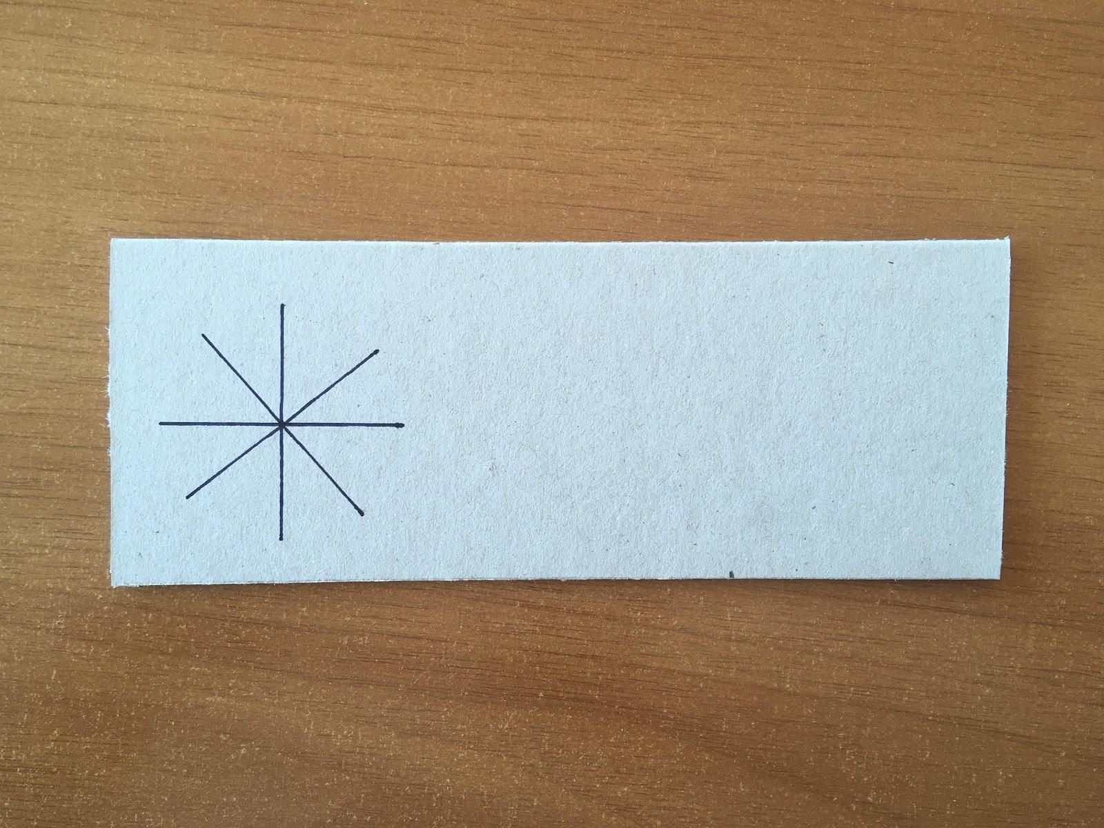 Trazado de dos líneas más sobre el dibujo anterior, rotadas aproximadamente 45 grados.