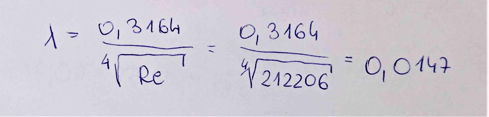 Wyznaczenie współczynnika oporów liniowych