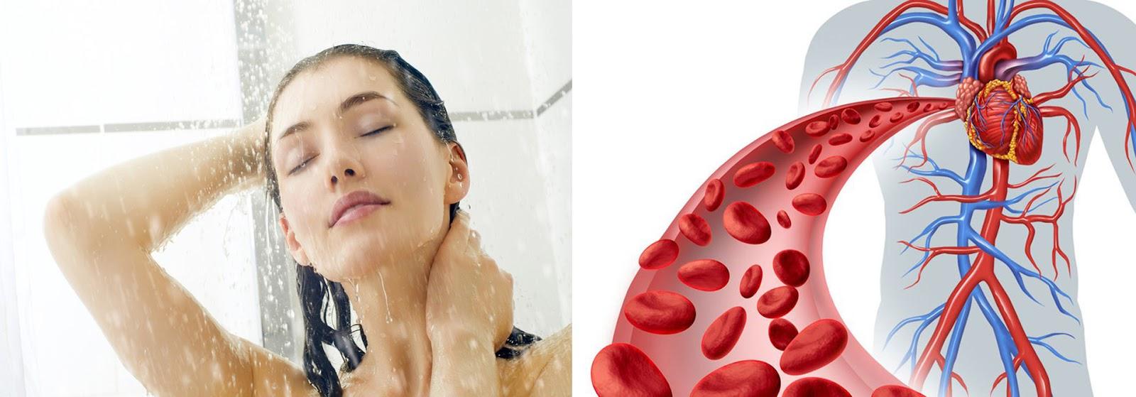Tăng tuần hoàn máu là lợi ích tuyệt vời mà tắm nước nóng đem lại