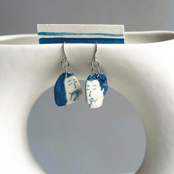 品品學堂-手作陶瓷耳環