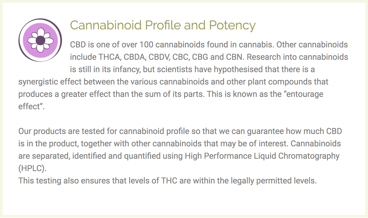 testing methods to include on cannabis websites