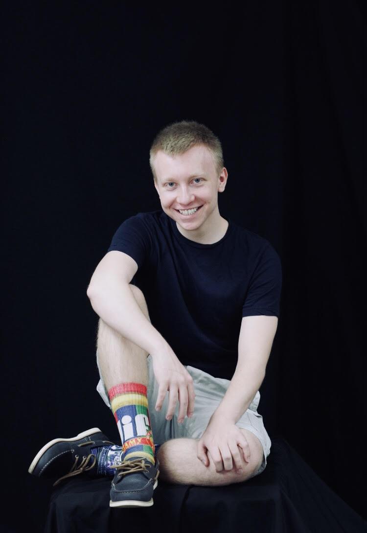 Seth Mason, owner of Seth's Socks