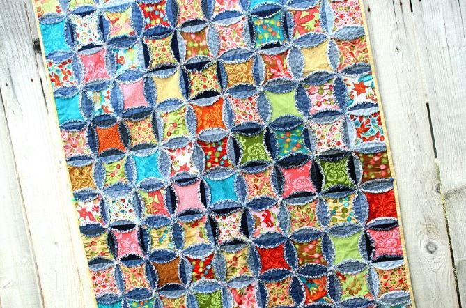 Vibrant Rag Quilt with a Twist