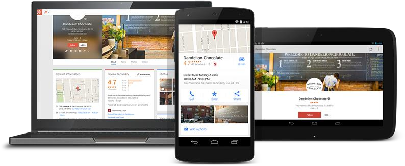 google attributes on mobile, tablet, and desktop graphic