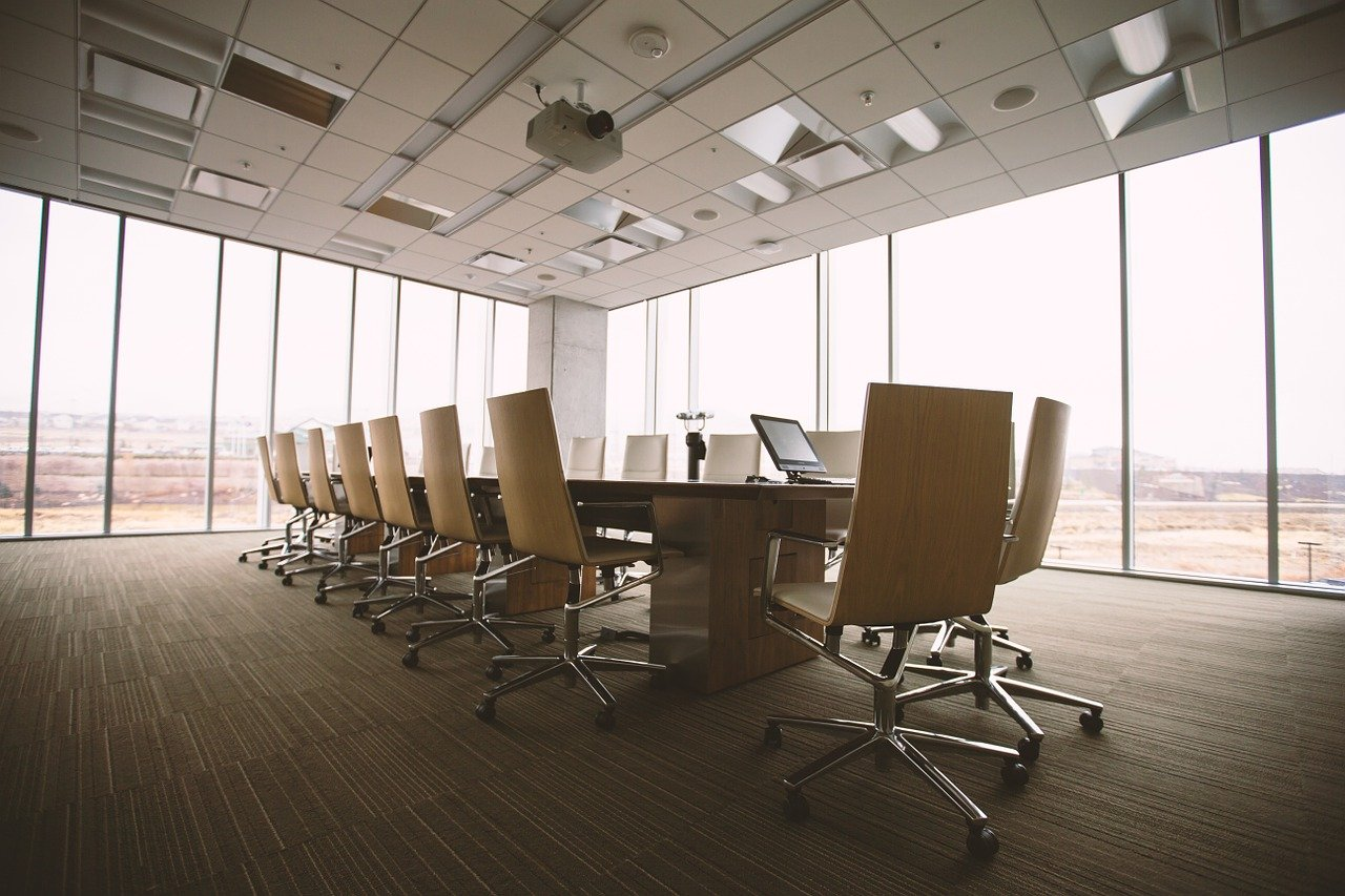 Conference Room, Table, Office, Business, Interior