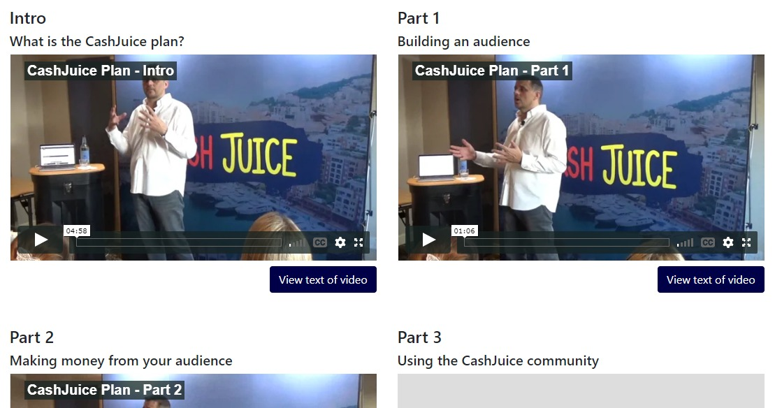 what is cash juice about. cashjuice the plan, the plan videos