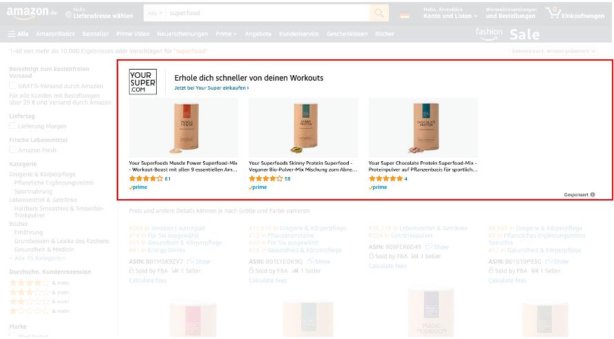 Amazon Sponsored Brands Anzeigen