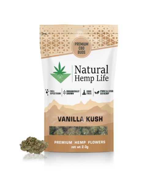Natural Hemp Lifes Premium CBD Buds med smak av vanilj