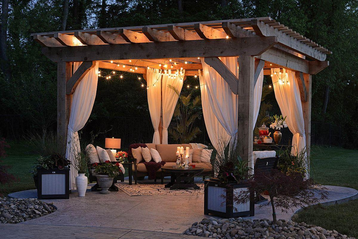 an Entertainment Area with the Right Size Pergola
