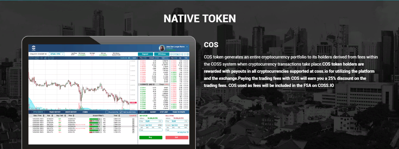 Криптовалютная биржа COSS: обзор и отзывы