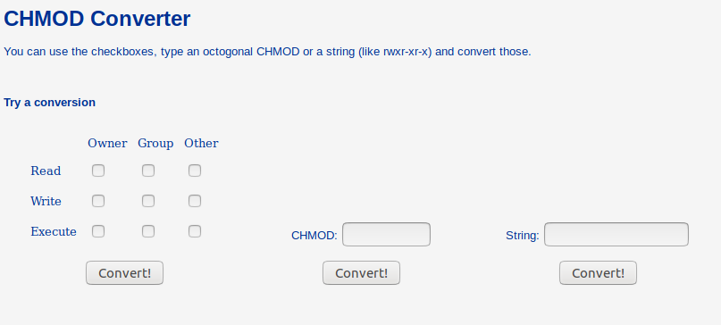 CHMOD Converter
