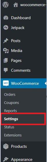 WordPress>Dashboard>setting section