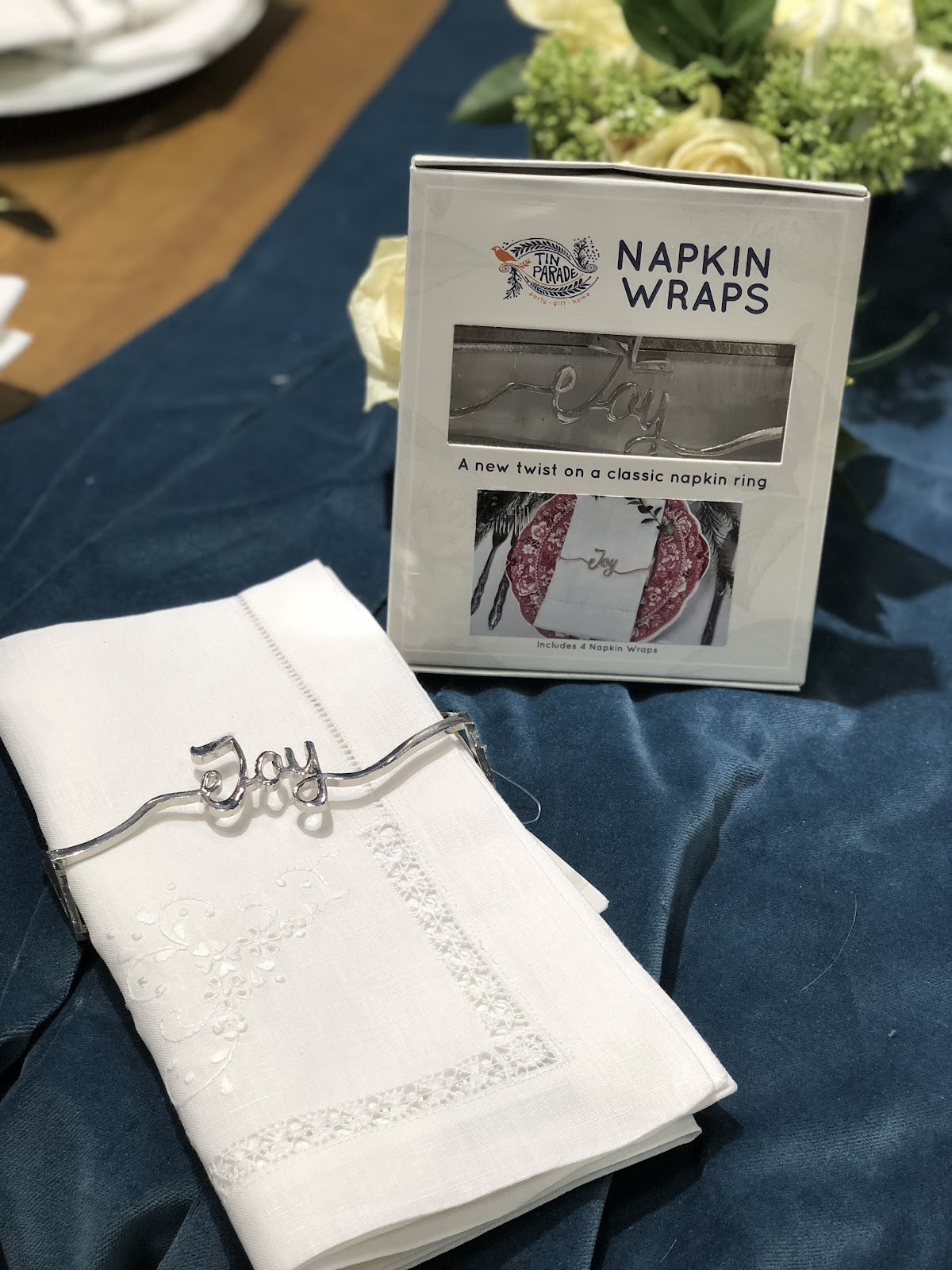 Tin Parade napkin wraps