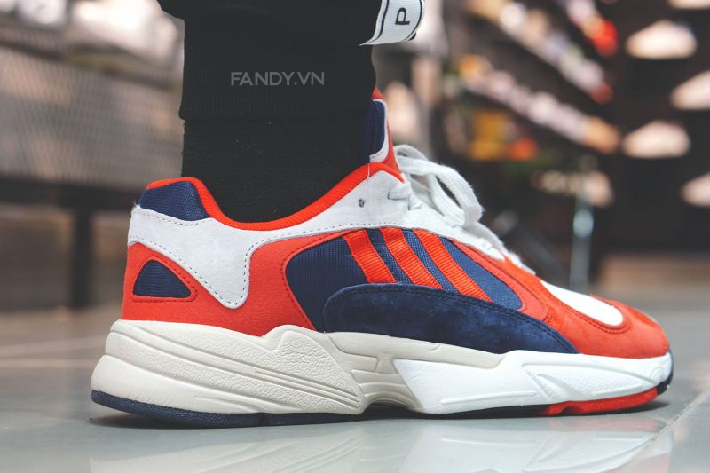 giay adidas yung 1 white red