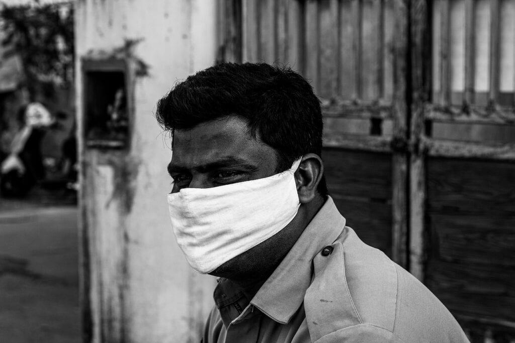Indian man wearing mask