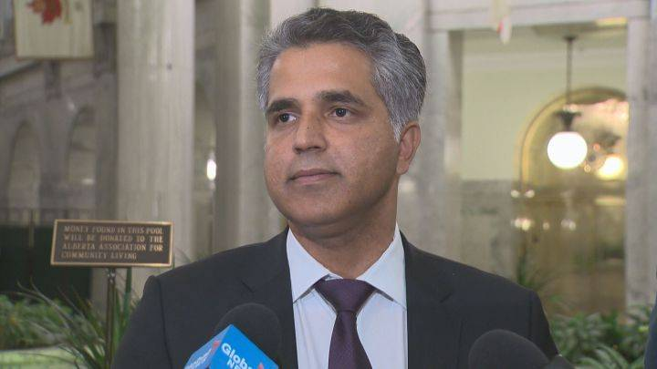 Human Services Minister Irfan Sabir speaks to reporters on Oct. 26, 2016.