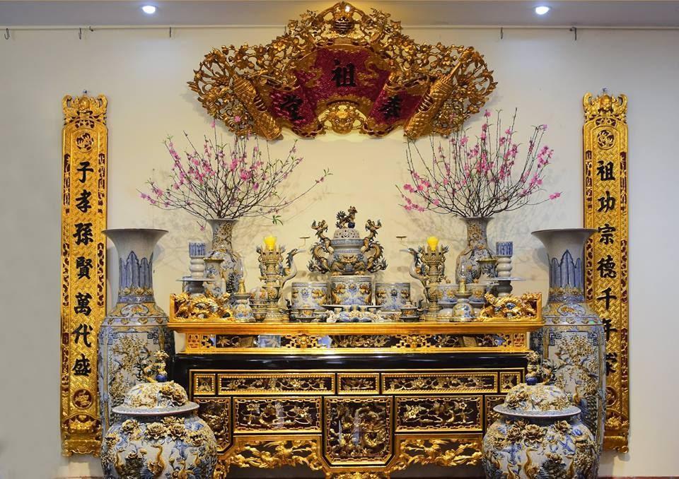mẫu bàn thờ tết đẹp