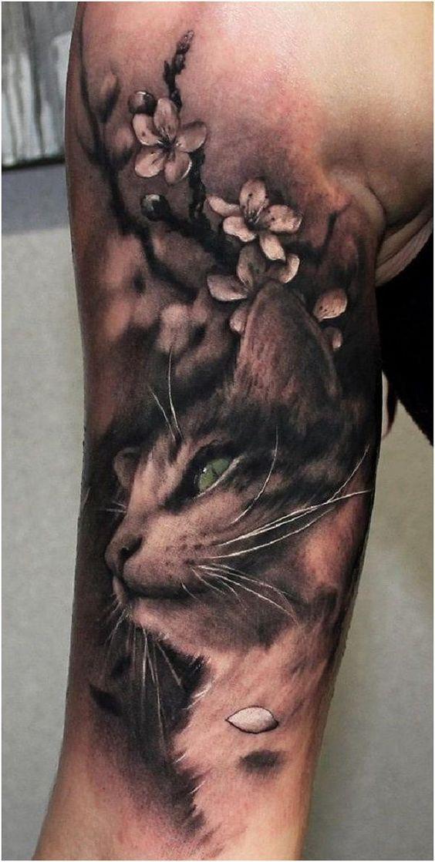 ลายสักแมวแขน7