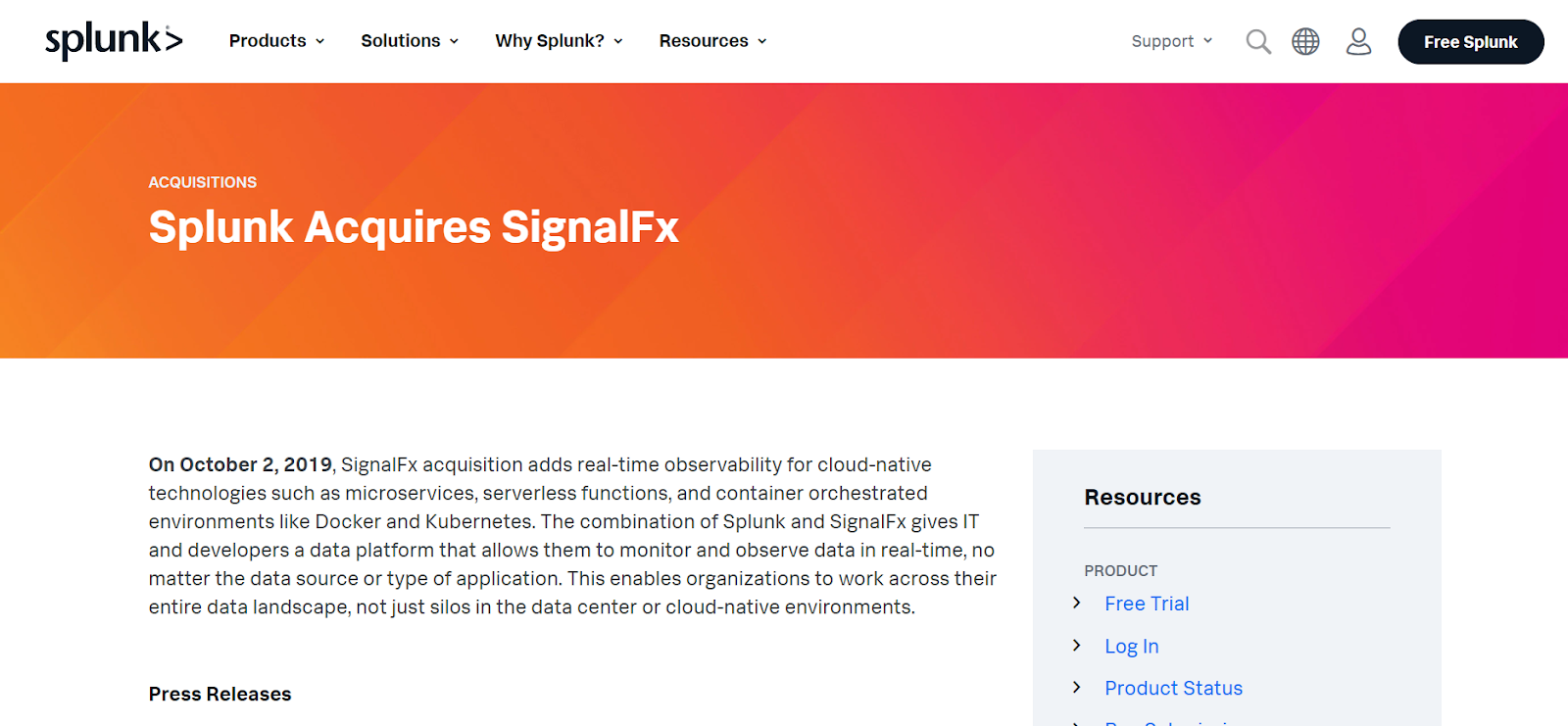 SignalFx is one of the best visionaries in Application Performance Monitoring Tools in the market