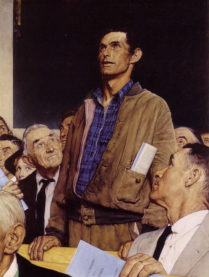 Freedom of Speech Norman Rockwell