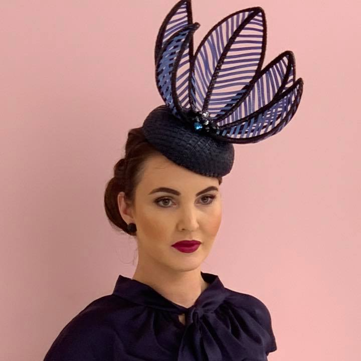 One of Alison Clark's creations at the Brisbane Millinery Fair