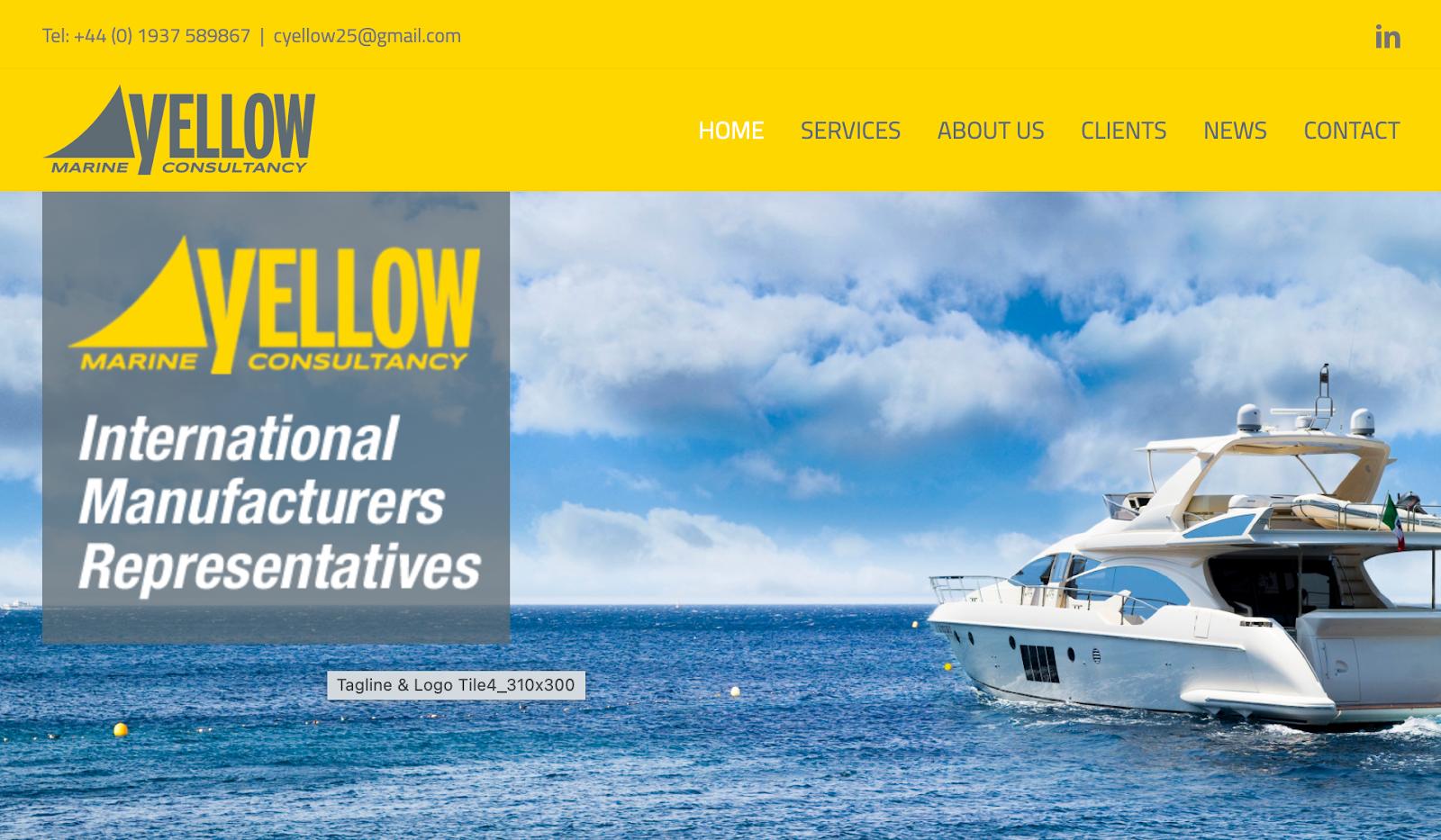 yellow marine consultants avaada theme wordpress website