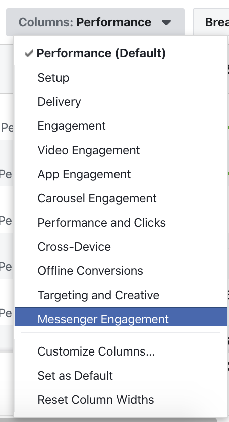 Messenger marketing through Facebook ads
