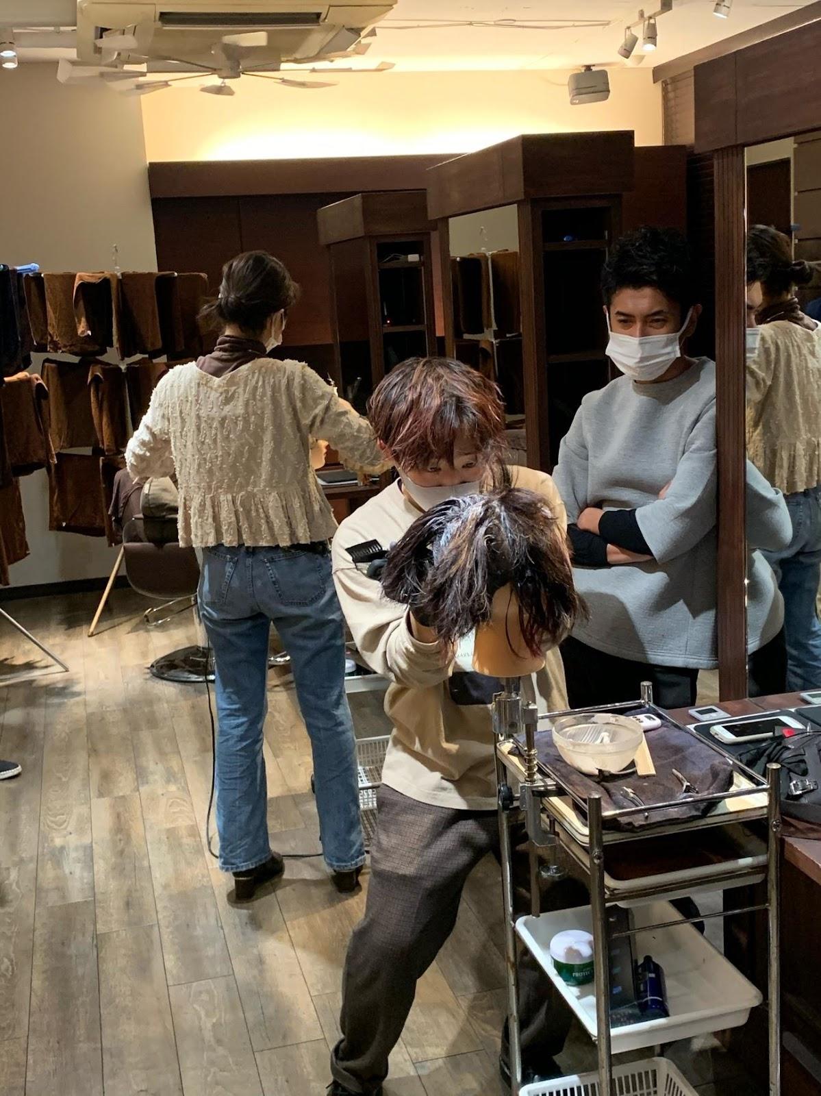 美容師への道_レッスンとテスト!!