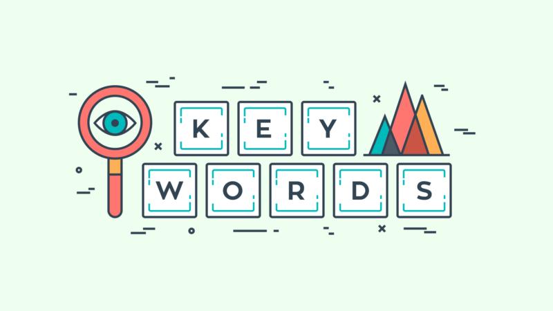 illustration saying seo keywords
