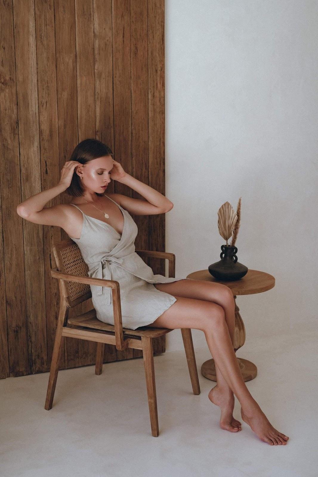 Fawn Linen Mini Dress