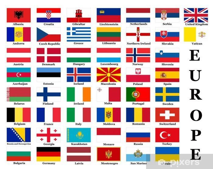 Fototapeta Flagi państw europejskich • Pixers® - Żyjemy by zmieniać