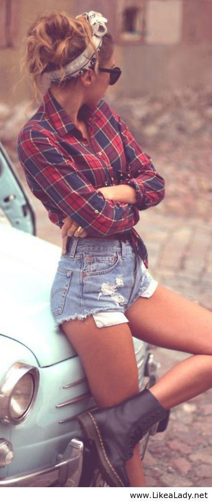 Como usar shorts de cintura alta: 20 Dicas de estilo 13